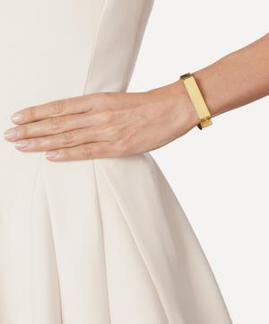 Gold-Plated Signature Wide Bangle