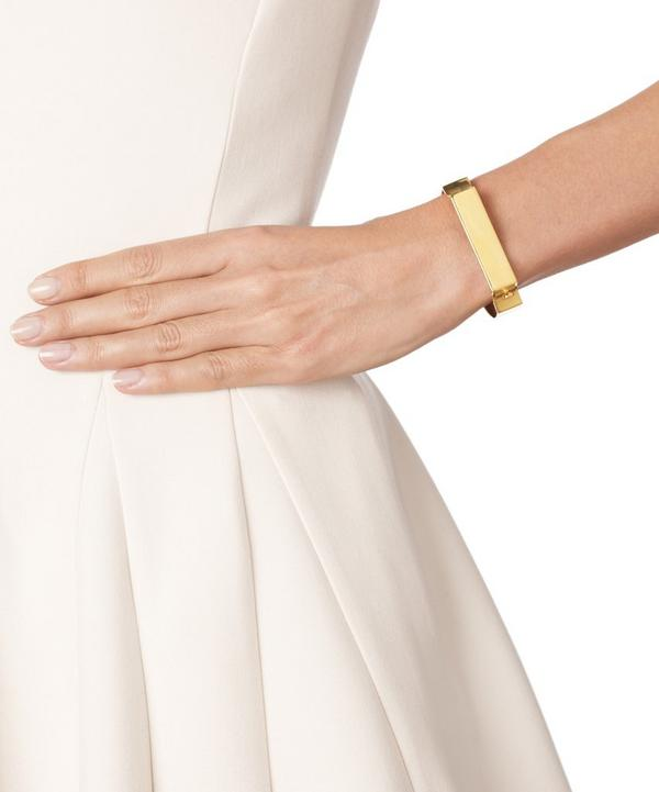 Signature Gold-Plated Wide Bangle