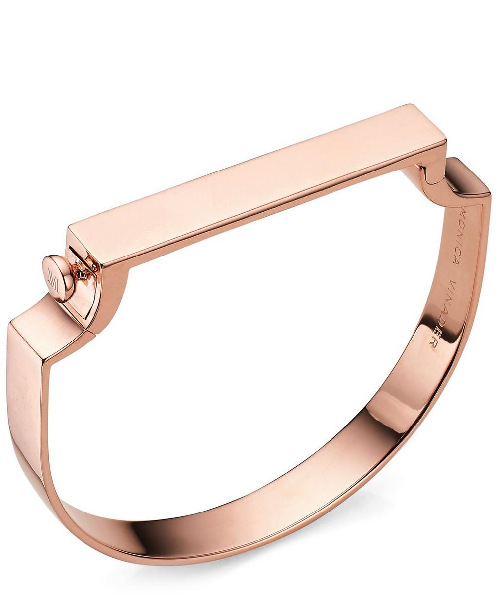 Rose Gold-Plated Signature Bangle