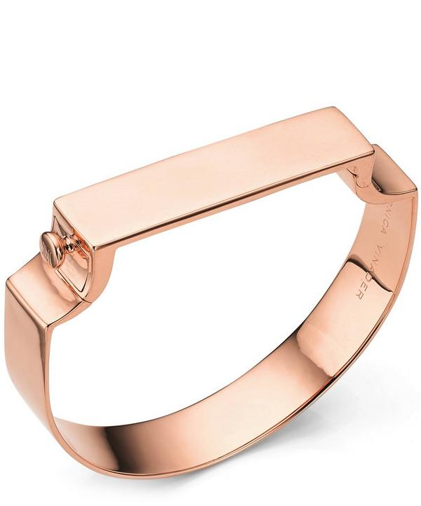 Signature Rose Gold-Plated Wide Petite Bangle