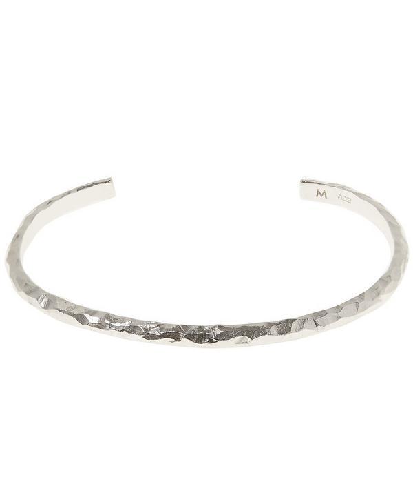 Silver 3mm Carved Bracelet