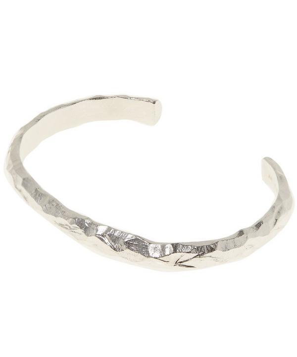 Silver 7mm Carved Bracelet