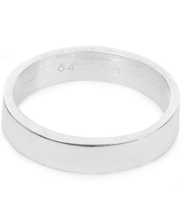 Silver Mixed Finish Ring