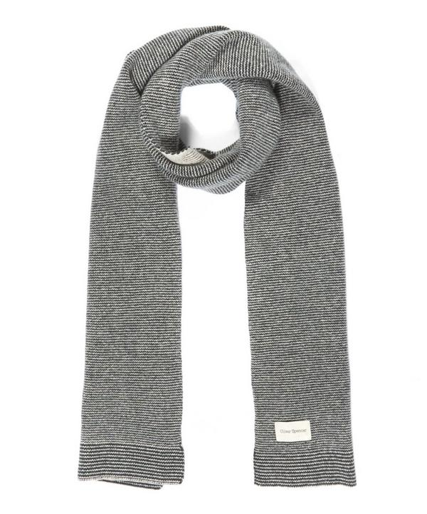 Three Stripe Wool Scarf