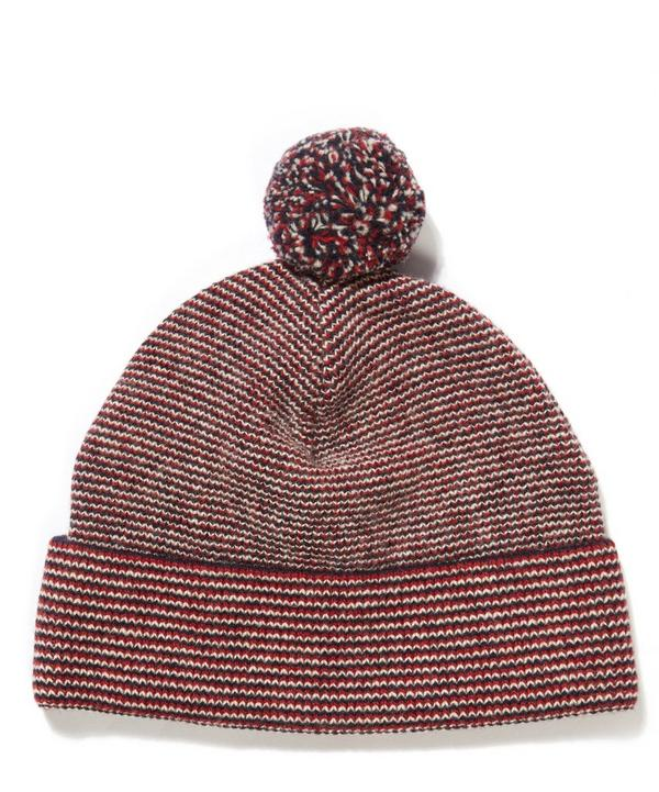Wool Striped Bobble Hat