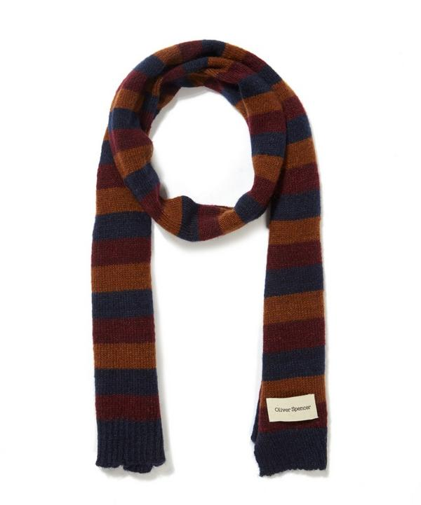 Ola Striped Wool Blend Scarf