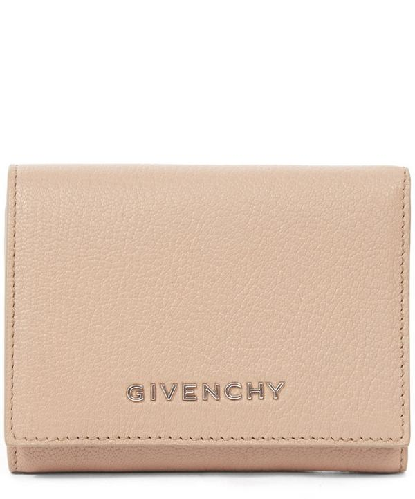 Grained Leather Tri Fold Pandora Wallet