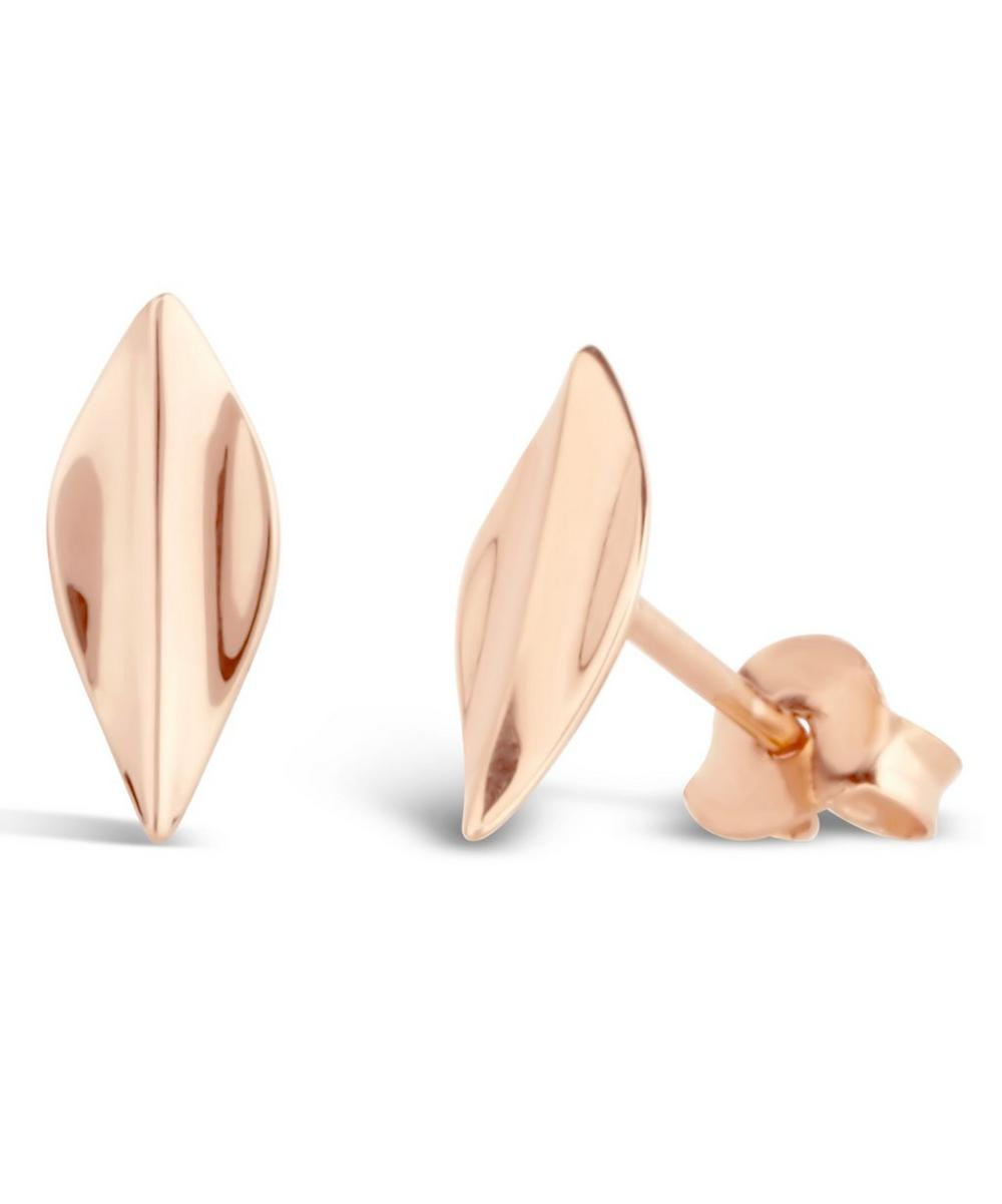Rose Gold-Plated Lotus Studs