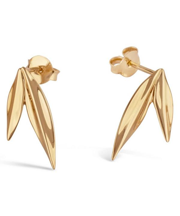 Gold-Plated Lotus Double Petal Studs