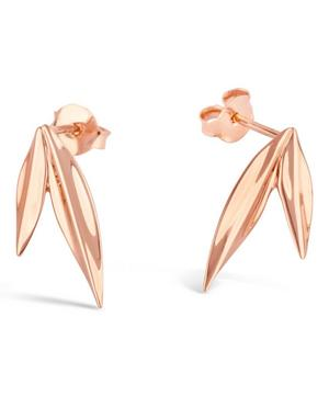 Rose Gold-Plated Lotus Double Petal Studs