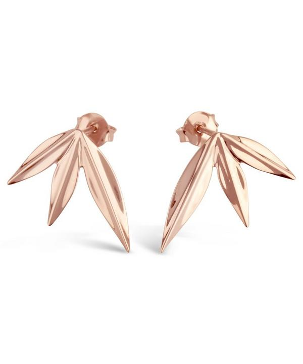 Gold-Plated Lotus Triple Petal Studs