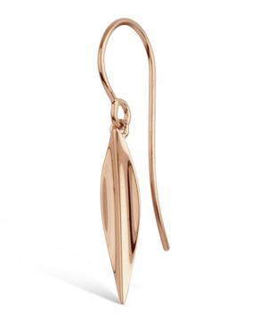 Medium Rose Gold-Plated Lotus Petal Drop Earrings