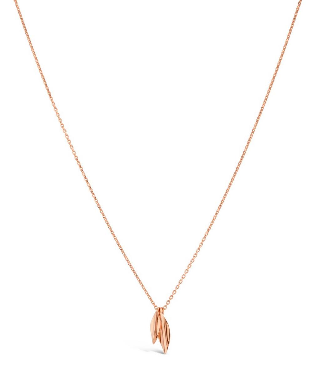 Rose Gold-Plated Lotus Double Petal Pendant