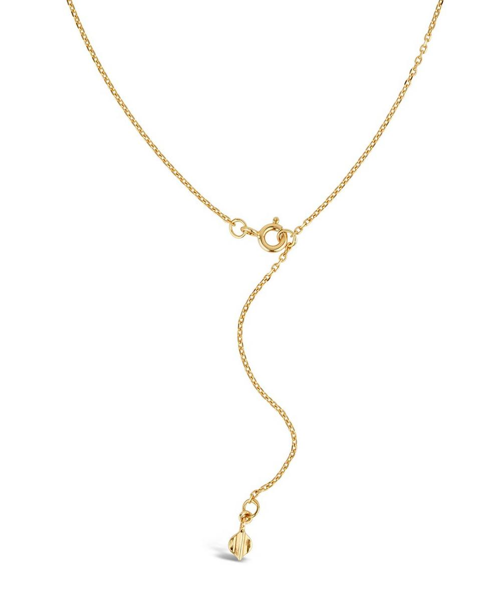 Gold-Plated Lotus Single Petal Long Pendant