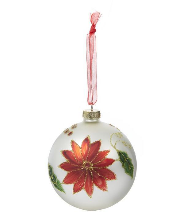Christmas Poinsettia Bauble