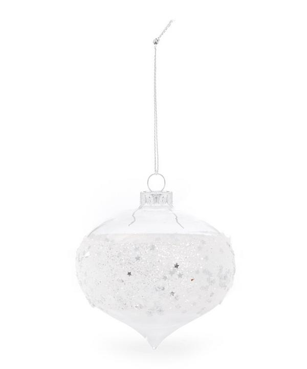 Frosted Glitter Bauble