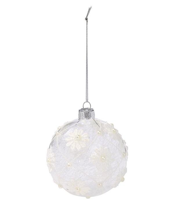 Frosted Flower Bauble