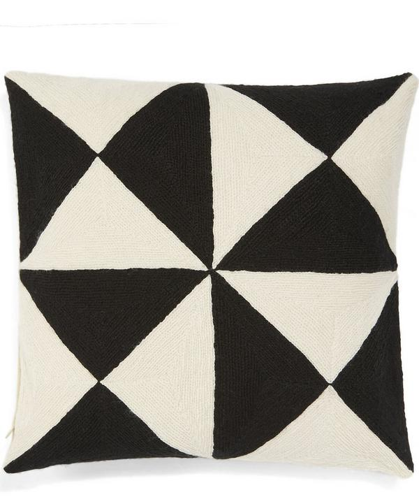 Geometric Diagonals Cushion
