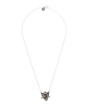 Silver Horse in Horseshoe Shield Necklace
