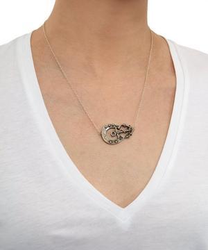 Silver Horseshoe Anchor Necklace