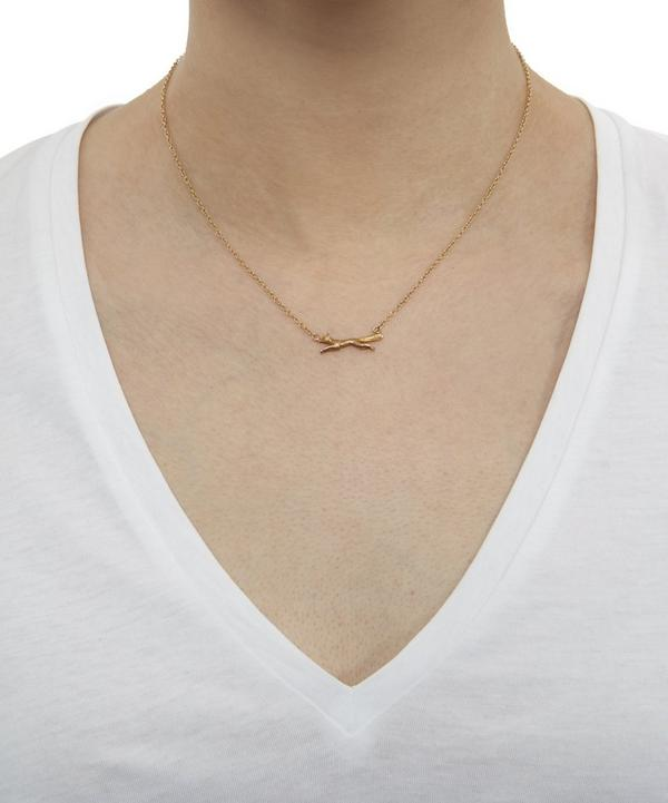 Gold Fox Running Necklace