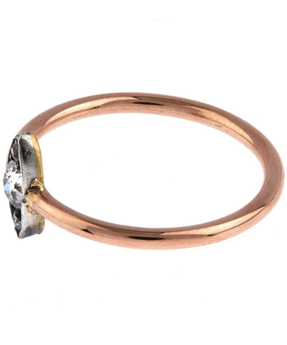 Rose Gold Old Cut Diamond Marquise Ring