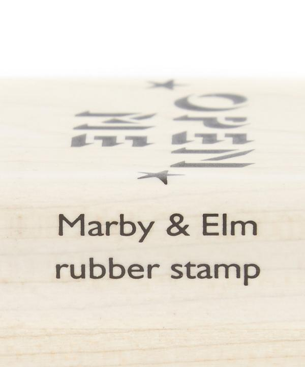 Open Me Rubber Stamp