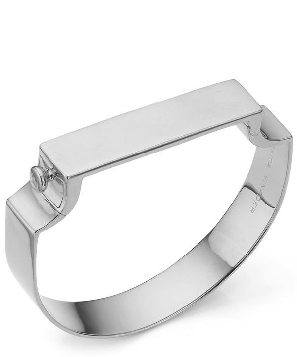 Silver Signature Wide Bangle