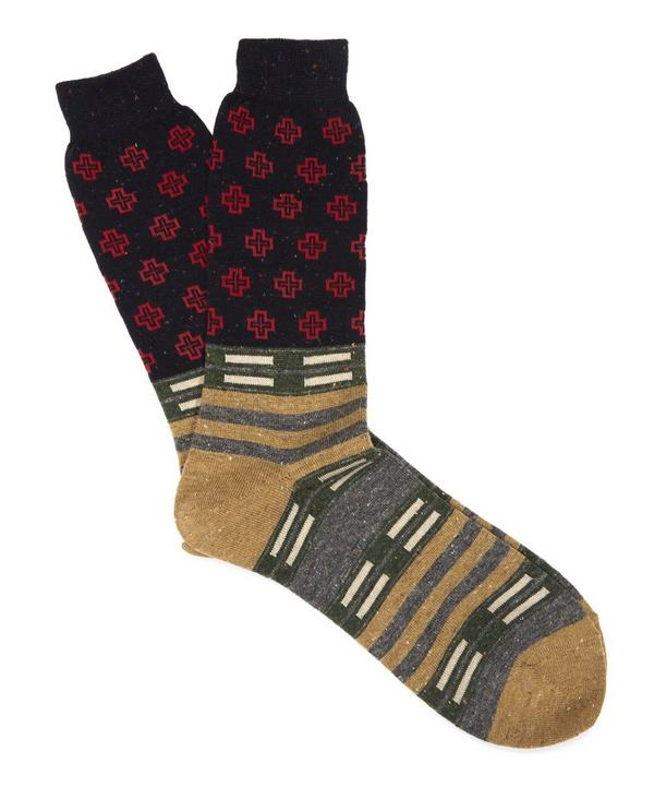 Cross Flecked Socks