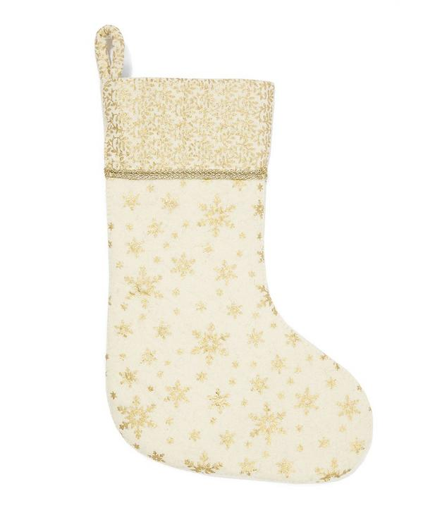 Snowflake Patterned Christmas Stocking