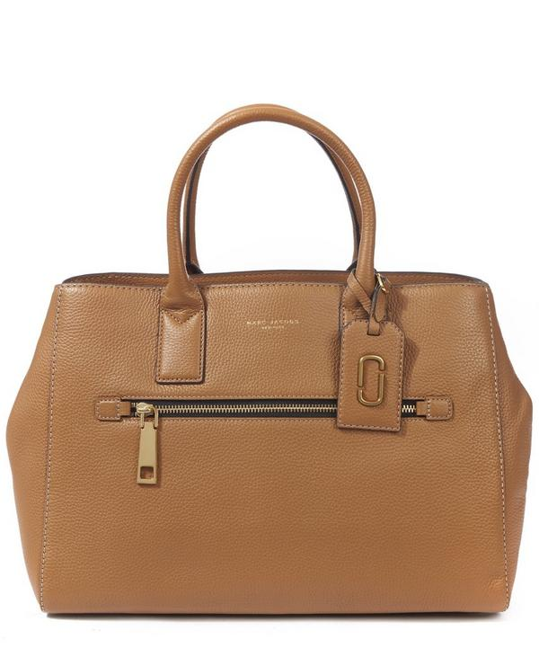 Gotham City North South Leather Tote