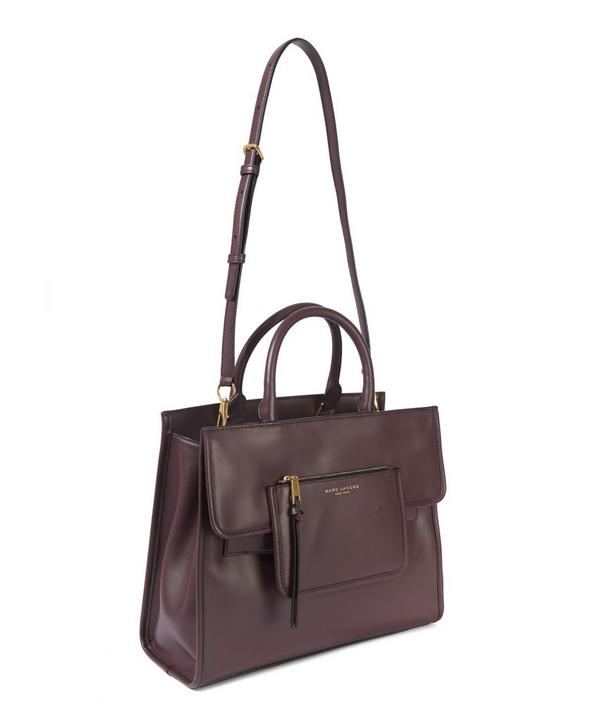 Madison North South Leather Tote