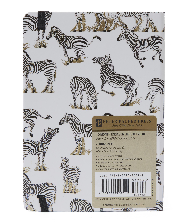 Zebras 2017 Weekly Planner | Liberty London