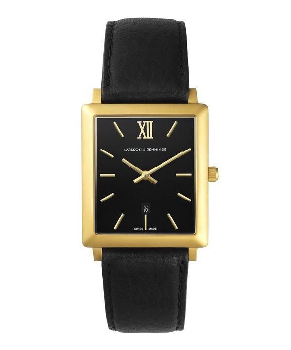 Gold Plated Norse Rectangle Watch