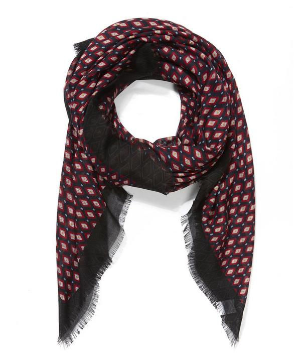 Diamonds Printed Cashmere-Blend Scarf