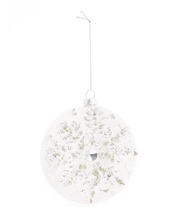 Sequin Snowflake Detailed Bauble