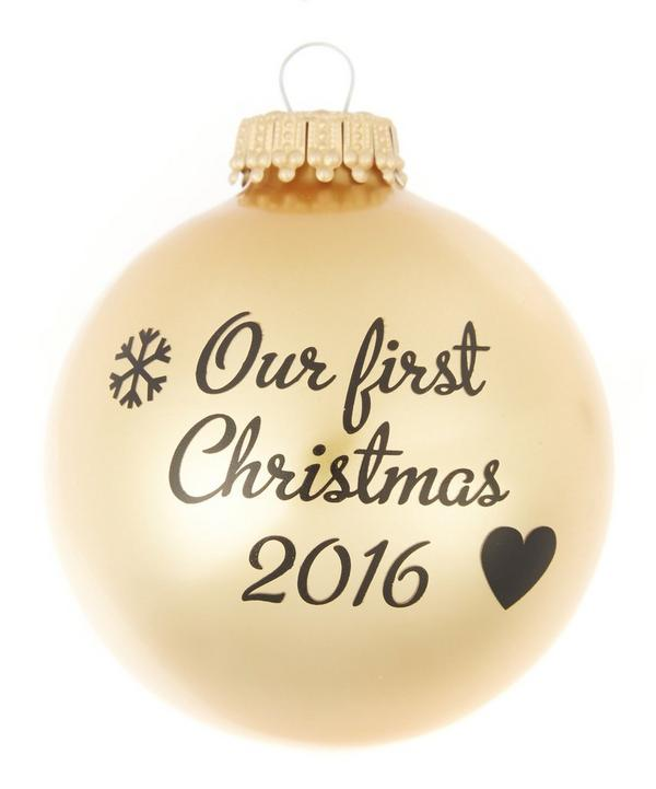 Our First Christmas 2016 Bauble