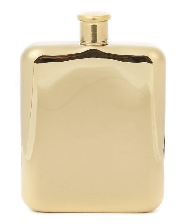 Belmont 14ct Gold Plated Hip Flask