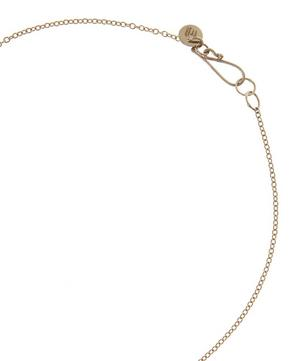 Gold Cut Out Oval Necklace