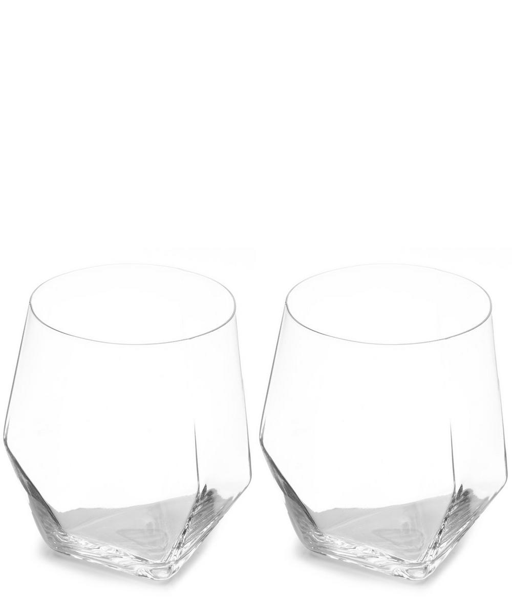 Raye Faceted Crystal Tumblers