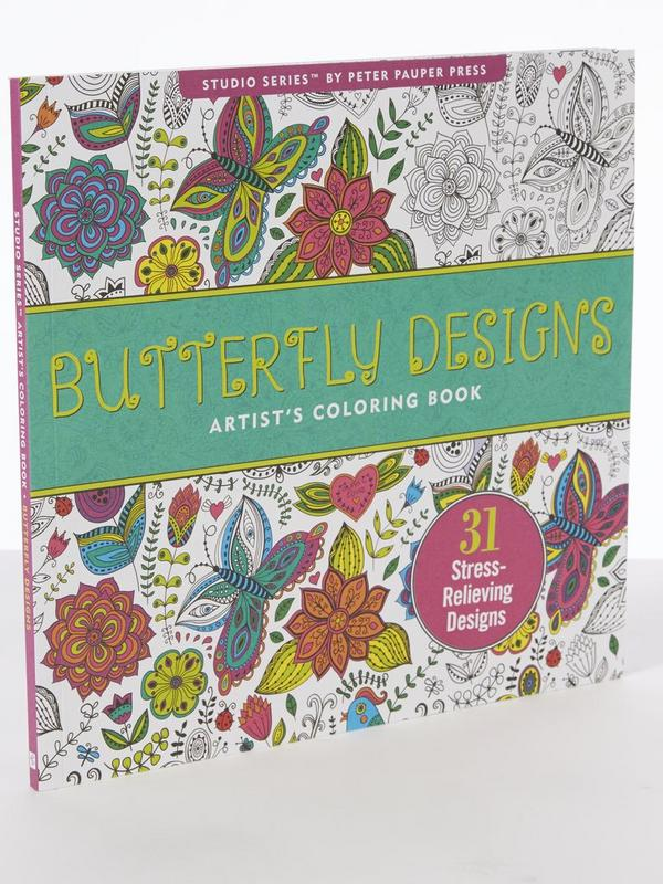 Butterfly Design Adult Colouring Book