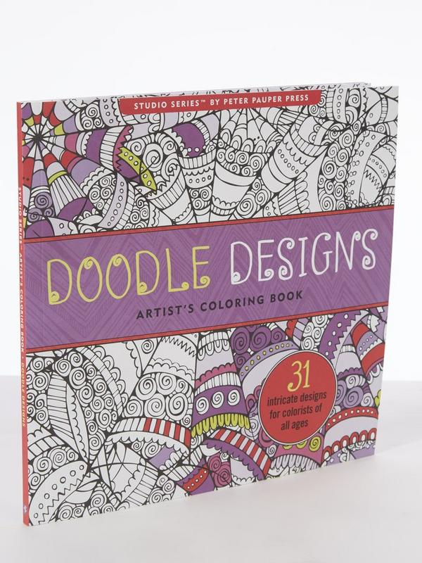 Doodle Design Adult Colouring Book