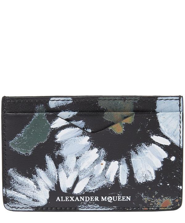 Floral Leather Card Holder