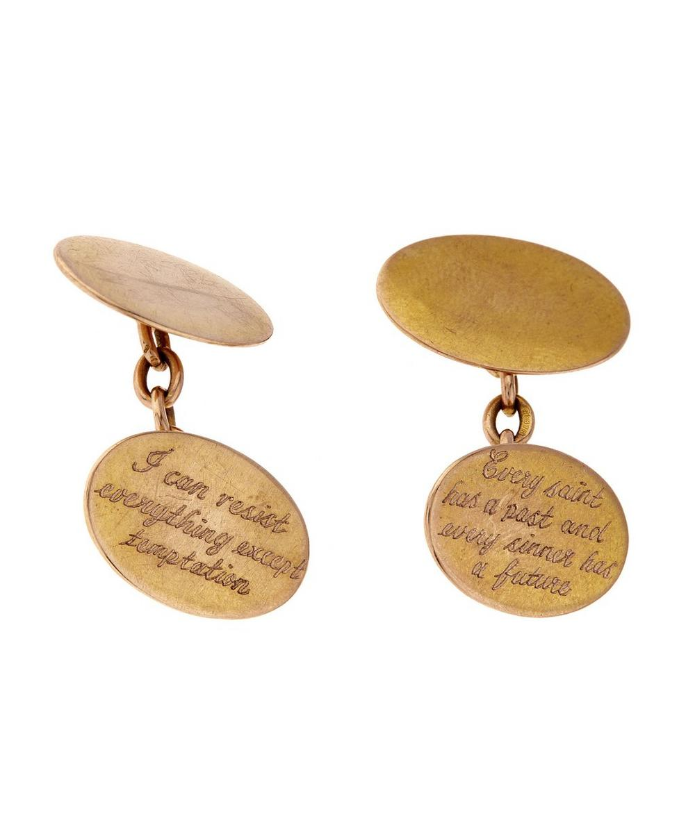 Gold Engraved Cufflinks