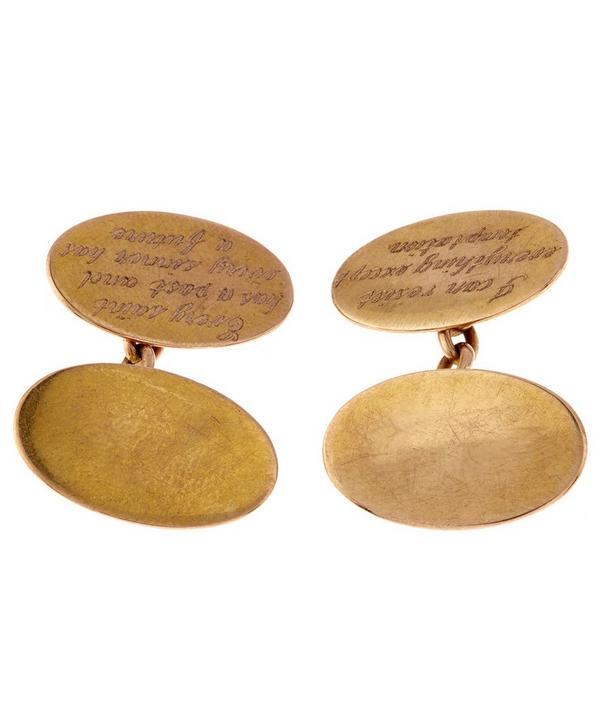 Gold Engraved Cufflinks