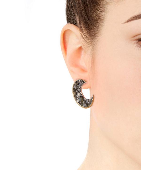Gold-Plated Laumiere Moon Stud