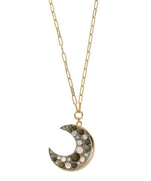Long Gold-Plated Laumiere Moon Pendant