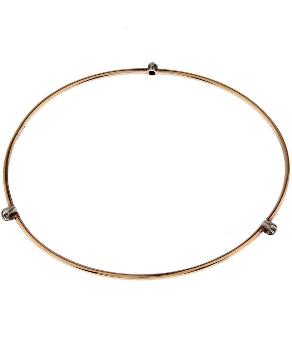 Rose Gold Triple Stud Bangle
