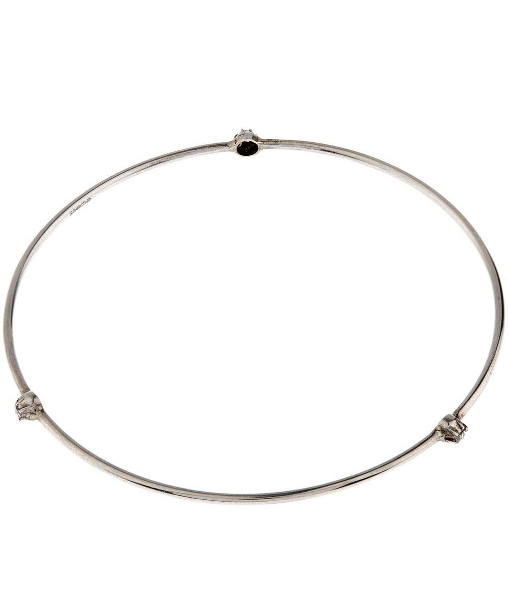 Silver Triple Stud Bangle