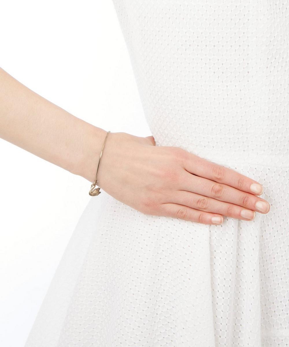 Gold Swan Charm Bracelet